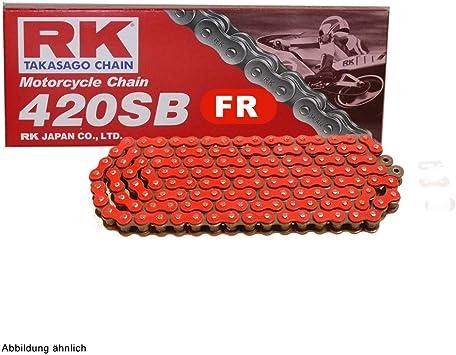 Motorrad Kette Rot Rk Fr420sb Mit 130 Rollen Und Clipschloss Offen Auto