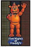 "Trends International Black Light Wall Poster Five Nights At Freddy's 23"" x 35"""