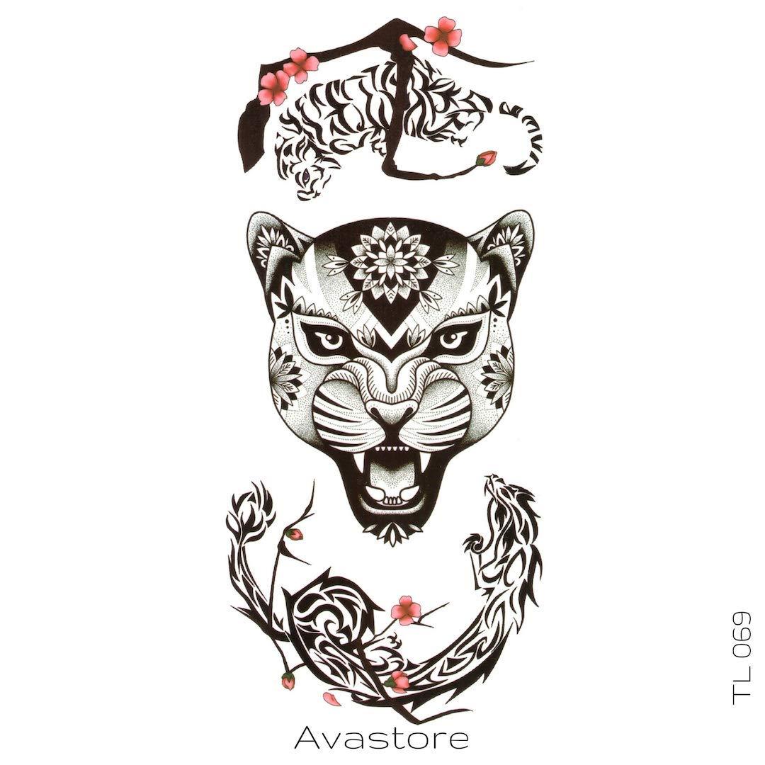 Tatuaje Temporal Leona avastore: Amazon.es: Belleza