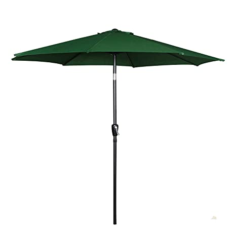Charmant Cloud Mountain 9u0027 Patio Umbrella, Outdoor Market Umbrella With Push Button  Tilt And Crank