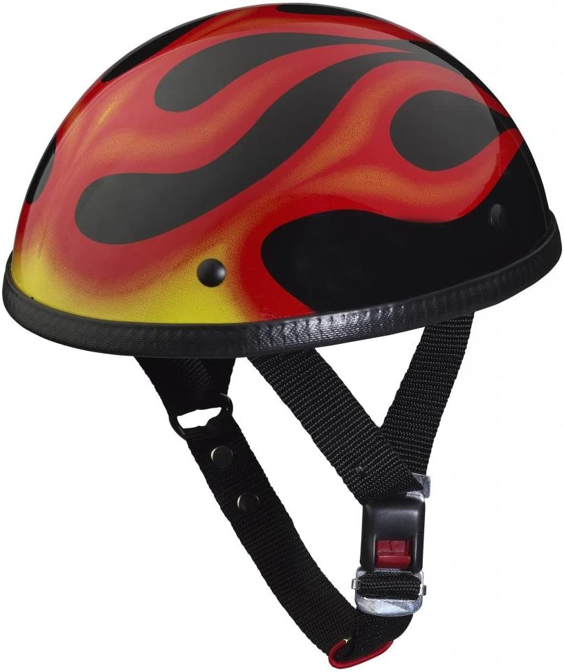 Gr/ö/ße XXL-2XL Feuer-Flame Nerve HLD Oldtimer NH201 Motorrad Mofa Chopper Helm Halbschale