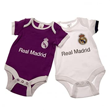 b5f676243 REAL MADRID BABY KIT 2 PACK BODY SUIT BABY T-SHIRT HOME   AWAY KIT ...