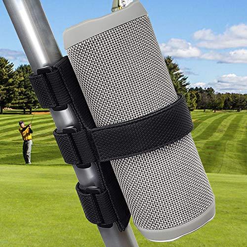 TOOVREN Portable Bluetooth Speaker Mount for Golf Cart Accessories Railing Bike - Wireless Speakers Holder Adjustable Strap for JBL Charge/OontZ Angle/Anker/Doss/AOMAIS/Bose Most Speaker Black