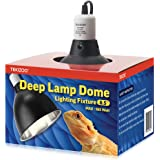 "TEKIZOO 8.5"" Deep Light Dome Reptile Lamp Fixture Aluminum Optical Reflector"