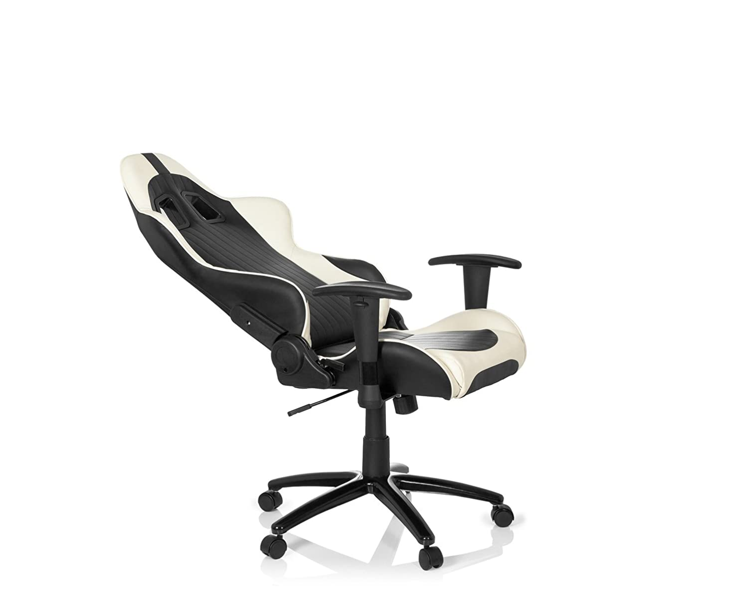 Hjh Office Monaco Silla de oficina Multicolor (Black/White) 52x63x143 cm: Amazon.es: Hogar