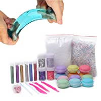 Macarons Slime Putty Crystal Mud Kit Release Pressure Relief Magic Plasticine Kids Toy(12PCS)