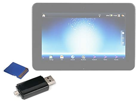 DURAGADGET Estupendo Pendrive ¡2 En 1! para Tablet Advent ...