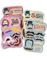 Mr. Moustachio's Facial Hair Four Pack: Top Ten Manliest, Girliest, Gnarliest, and Meatiest Facial Hair, Beard, and Mustache Assortment!