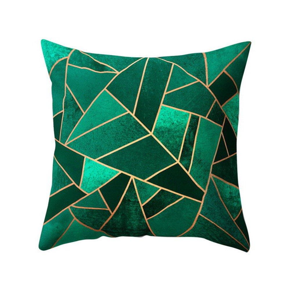 Chenway Geometric Design Throw Pillow Case,Zipper Square Pillowslip Waist Cushion Decoration CaseCover for Sofa Livingroom Home Decor (C)
