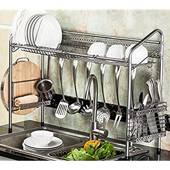 PremiumRacks Professional Over The Sink Dish Rack   Fully Customizable    Multipurpose   Large Capacity