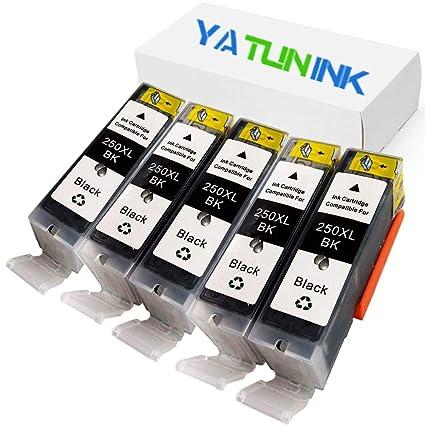 yatunink (TM) 5Black PGI-250PGBK cartuchos de tinta para ...