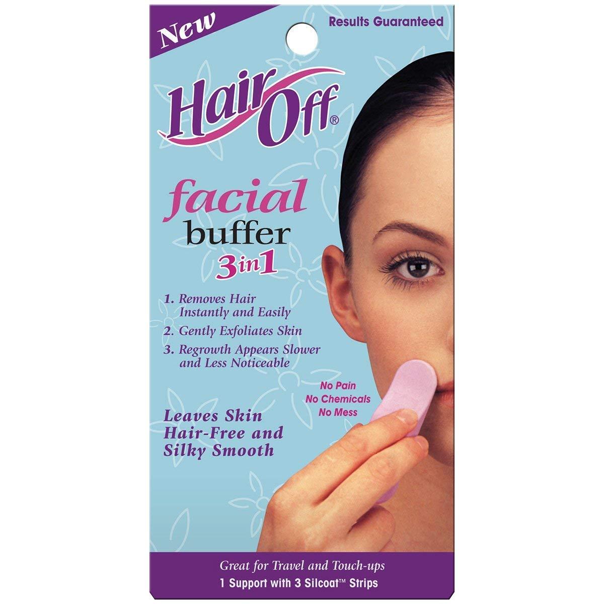 HairOff Facial Buffer 3 Each