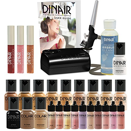 Dinair Airbrush Makeup Starter Kit, Double Shade Range - Fair to Medium by Dinair Airbrush Makeup