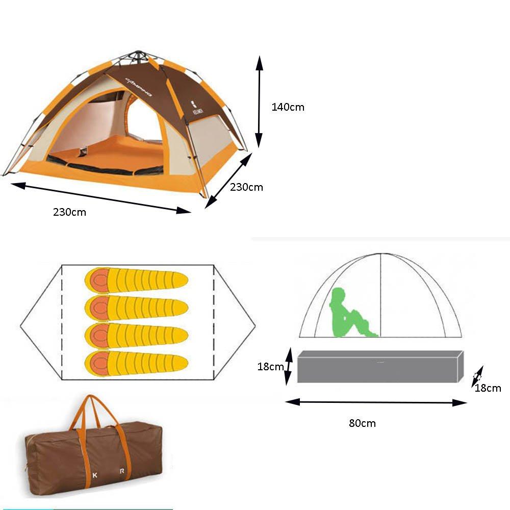 QFFL zhangpeng Zelt-Starkes Doppeltes Doppeltes Doppeltes automatisches Zelt im Freien 3-4 Familien-regendichtes Zelt kampierendes wildes kampierendes 7 Farbe optional Tunnelzelte B07CHNHNXF Eisangeln Moderate Kosten 3e8cdb