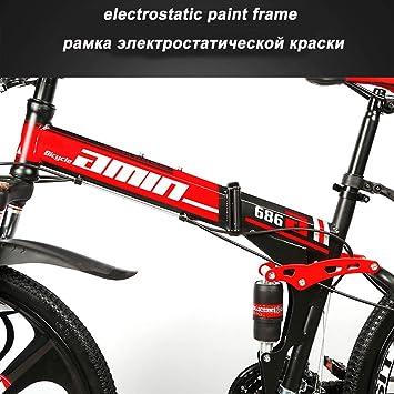 MoMi Bicicleta de montaña Plegable Bicicleta 21/24/27/30 Velocidad ...