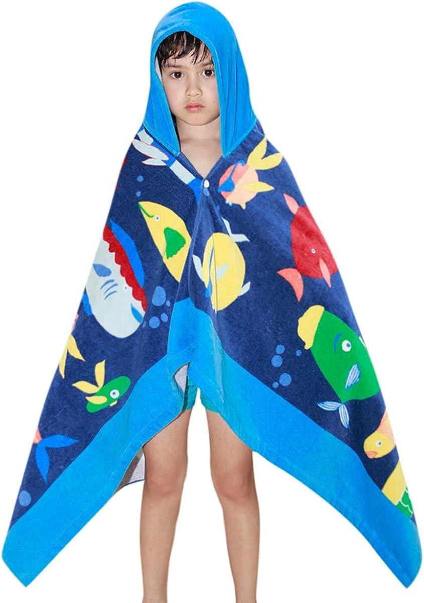 Teen Kids Baby Girls Boys Hooded Swimming Beach Bath Towel Thick Cloak Soft Hydrophil Bathrobe Beachwear Clothes