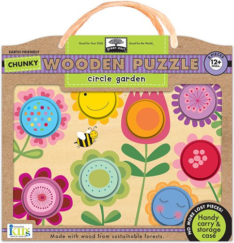 Green Start Wooden Puzzles - Innovative Kids Green Start Chunky Wooden Puzzles: Circle Garden Puzzle