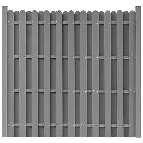 Favorit vidaXL WPC Zaun 180×180cm Grau Sichtschutzzaun Windschutz LA62