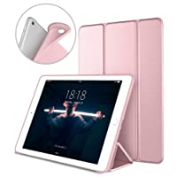 New iPad 2017 iPad 9.7 Inch Case, DTTO Ultra Slim Lightweight Smart Case Trifold Cover Stand with Flexible Soft TPU Back Cover for iPad Apple New iPad 9.7-inch [Auto Sleep/Wake],Rose Gold