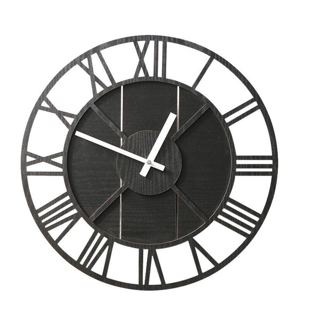 WTL ウォールクロック ヨーロッパのレトロウォールクロックリビングルームジェーンミュートウォールチャートノスタルジックな時計 (色 : A) B07FL6LF7L A A