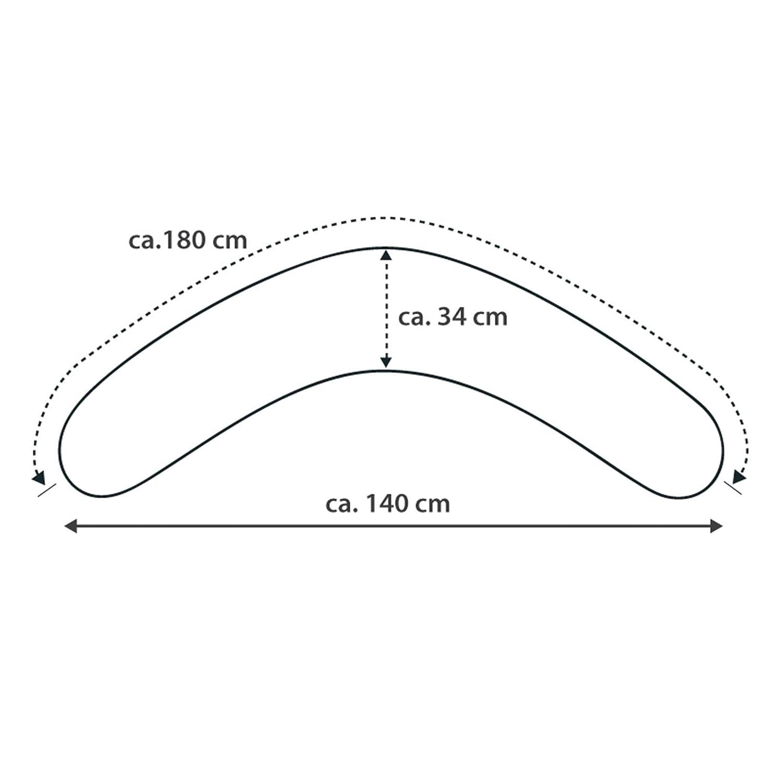 Bezug Elefantenherde Theraline Das Komfort Stillkissen 180 cm inkl Polyester Hohlfaser F/üllung