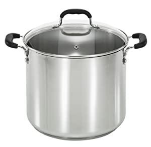 T-fal C8888164 Stainless Steel 12-Quart Stock Pot