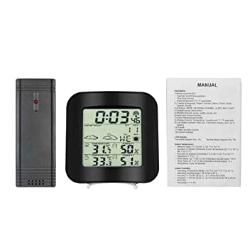 Topker Estación meteorológica Medidor de humedad relativa Temperatura de sensores inalámbrica Inicio termómetro higrómetro digital de