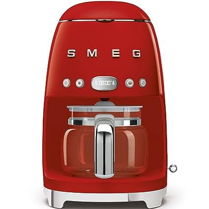 Smeg DCF01RDEU cafetera Espresso, 1050 W, 1.4 litros, De plástico, Acero Inoxidable