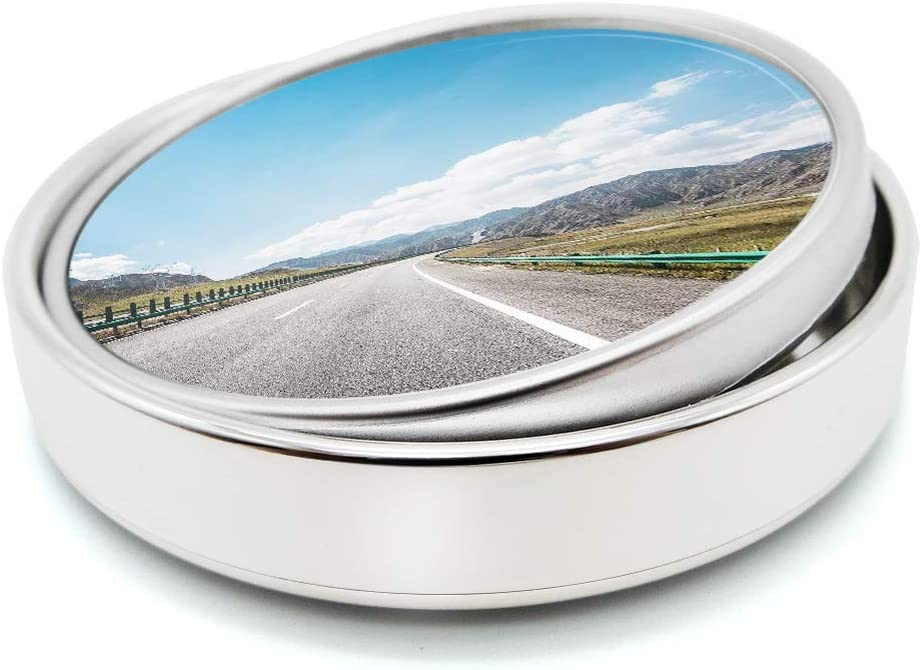 Blind Spot Mirror 360/° Adjustable 2/'/' HD Glass Convex Wide Angle Mirror Rear View Mirror for All Universal Vehicles Car Set of 2 Stick On Design