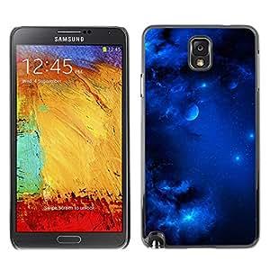 Majestic Royal Blue Sky - Metal de aluminio y de plástico duro Caja del teléfono - Negro - Samsung Note 3 N9000