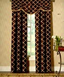 Designers' Select Francesca Rod Pocket Window Curtain Panel in Brown 54 Inches Wide x 84 Inches Long