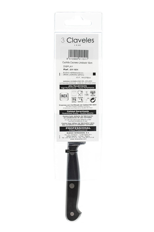 3Claveles Uniblock - Cuchillo para mondador de 6 cm, 2,5 pulgadas ...