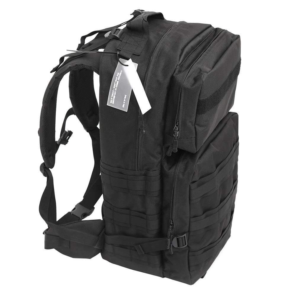 L-LK スポーツアウトドアハイキングバックパック、大容量のバックパック、ハイキングバックパック、多機能防水レジャーキャンプハイキングアウトドアスポーツバックパックブラック