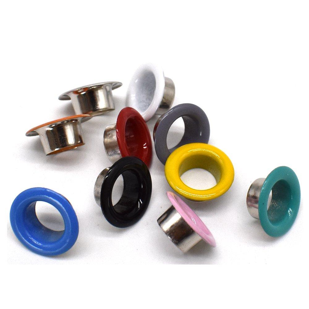 Renashed 3//16 inch Grommets Kit Metal Eyelets 300 Set for Bag Multi-Color Shoes Clothes Crafts 10 Colors