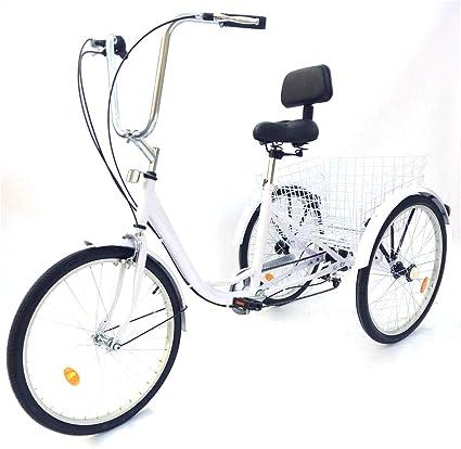 24 inch Triciclo en Bicicleta Adulto 3 Ruedas Cesta Aluminio ...