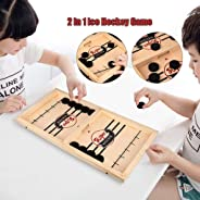 Malbaba Slingshot Table Hockey Party Game, Bouncing Chess Hockey Game Checkers Sling Puck Board Games Kids and Family