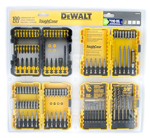 DEWALT 100-piece Combination Impact Screwdriver Bit and Drill Set