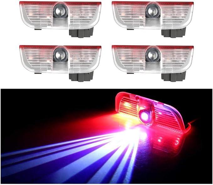 4pcs 3D LED Coche Puerta Logo proyector luz para VW Golf 5 6 7 ...