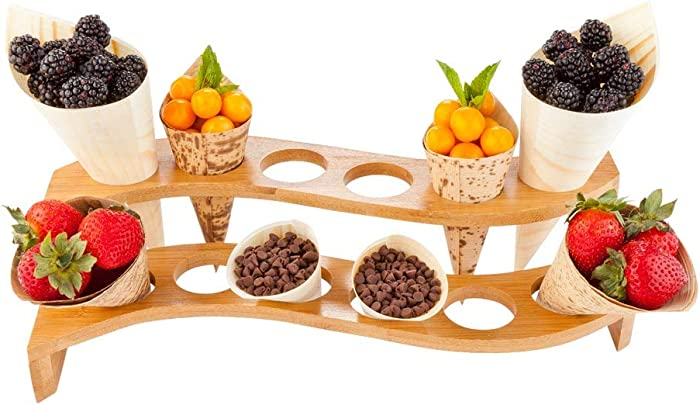 Top 10 Bamboo Square Food Cone Holder