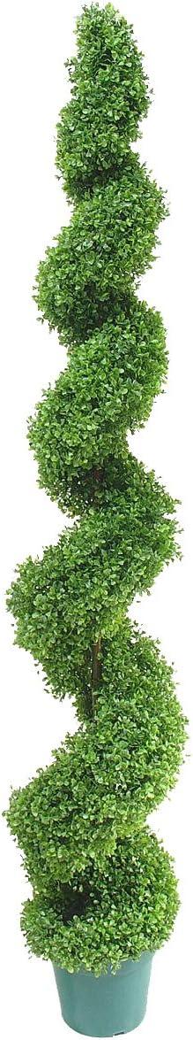 180 cm de haut Buis artificiel de chez Best Artificial/™ taill/és en topiaire spirale R/ésistant aux UV