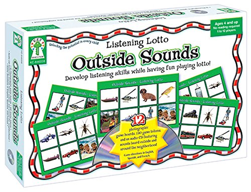 (Listening Lotto: Outside Sounds Educational Board Game )