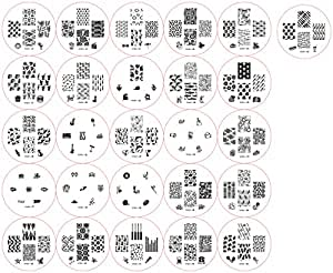 NEW 2012 Cheeky Set of 26 Nail Art Nailart Polish Stamp Stamping Manicure Image Plates Accessories Set Kit With Total of 161 Nail Art Designs.