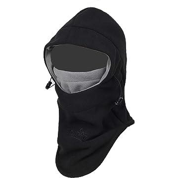 Purjoy Multipurpose Use Thermal Warm Fleece Balaclava Hood Police Swat Ski Bike Wind Stopper Full Face Mask Hats Neck Warmer Outdoor Winter Sports Snowboarding Cap