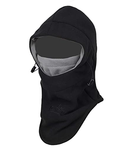 Purjoy Multipurpose Use Thermal Warm Fleece Balaclava Hood Police Swat Ski Bike Wind Stopper Full Face Mask Hats Neck Warmer Outdoor Winter Sports Snowboarding Cap