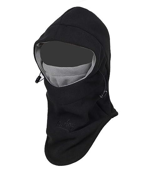 Purjoy Multipurpose Use Thermal Warm Fleece Balaclava Hood Police Swat Ski  Bike Wind Stopper Full Face e5e41c79d77