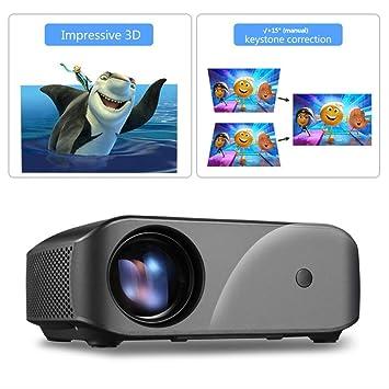El proyector Lleno Real de los lúmenes 1920x1080 HD, USB 1080p ...
