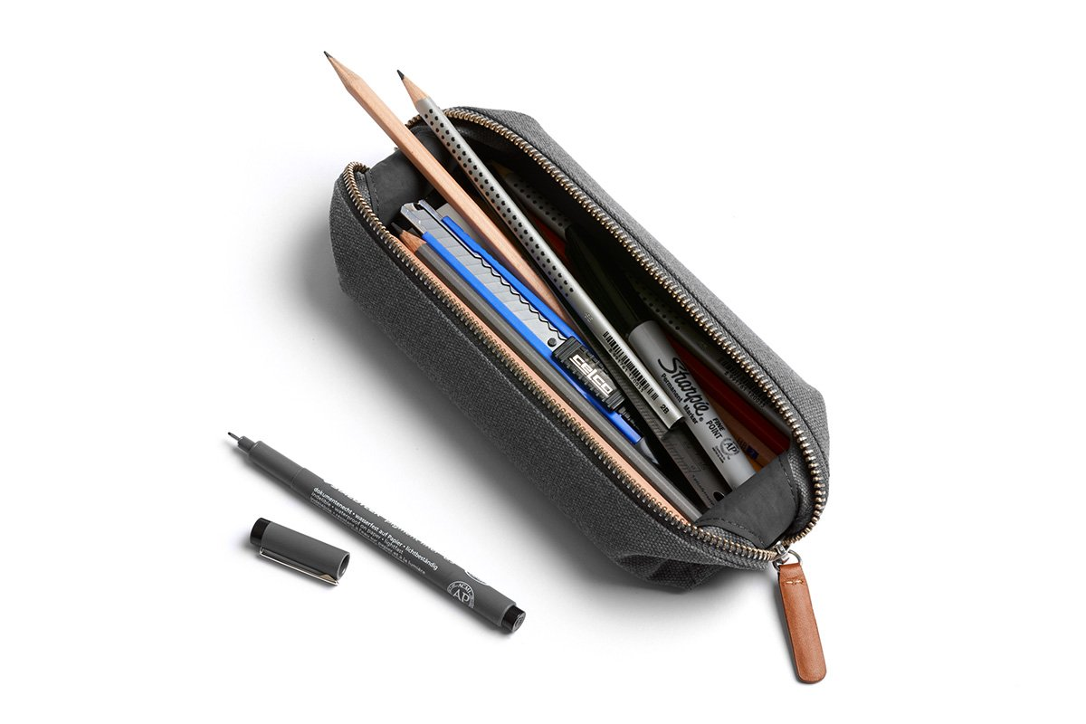 Bellroy Pencil Case, Work Accessories, Woven Fabric (pens, Cables, Stationery and Personal Items) - Mid Grey by Bellroy