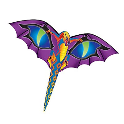 "WindNSun MiniKite Mylar Mini Kite - Dragon 6"" Wide: Toys & Games"