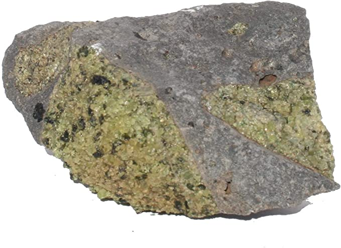 50mm+ 1 x  Peridot on Basalt Natural Crystal Specimen