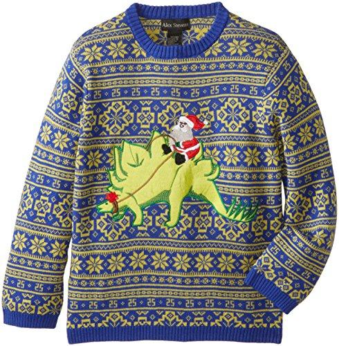 Alex Stevens Big Boys Ugly Christmas Sweater Stegosaurus Import